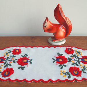 ハンガリー刺しゅう カロチャのテーブルセンターキット カラフルでかわいい刺しゅうです。