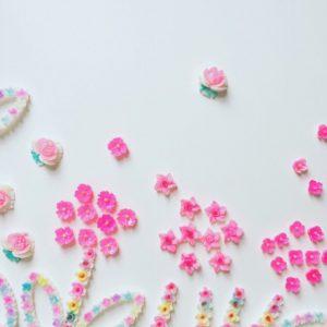 ヴィンテージジャパンお花のカボション