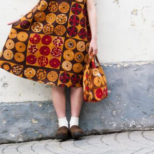 Linen dress&Lunch bag
