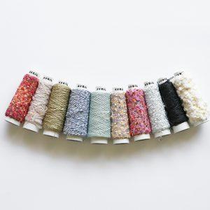 人気の糸をミニコーンにしました。編んだり、ラッピングにつか ったり、プレゼントにも。