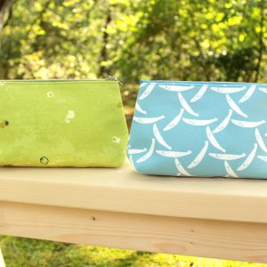 Medium Pouch/ Ayukagome blue / Hotarukabe green / ¥3200( 税抜)