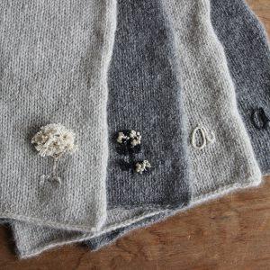 カシミアストールオプション刺繍の種類