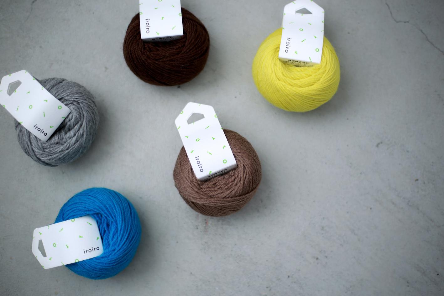 iroiroを3色と5色にカラーセレクトして販売いたします! ポンポンやタッセル、毛糸刺しゅうにぴったりです。