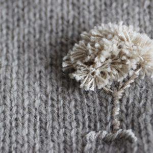 カシミアストールオプション刺繍(木のモチーフ)