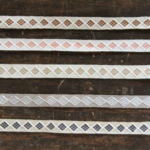 細い糸で織られているので目がきっちりと並び、シンプルな繰り返し模様の良さが良く出ています。