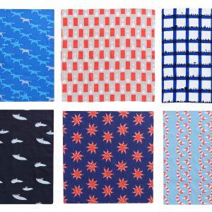 青衣のテキスタイルは、京都の染色工場さんに一色一色プリントしていただいてます。