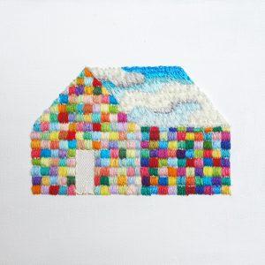 「空の家(キャンバス作品)」