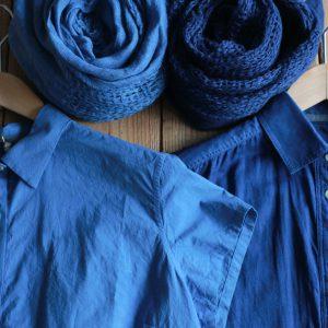 職人が一点一点、こころを込めて丁寧に染め上げた人気の藍染め商品たち。 手染めのため一点一点微妙に表情が異なるのが特徴です。
