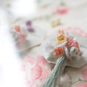花束とちょうピアスspring