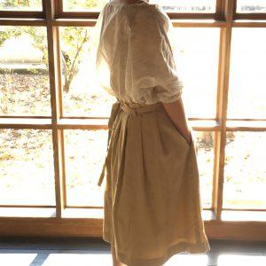 プリーツラップスカート / beige