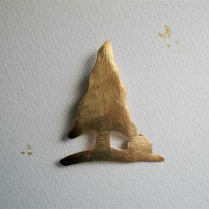 木と家 さんかくの木と小さな家
