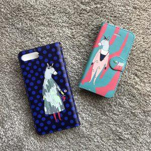iphone case ドット&エム柄(6~X)