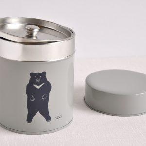 コーヒー缶(月の輪ぐま)