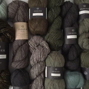 デンマークよりISAGER毛糸のお取り扱いする全ての種類をお持ちします。