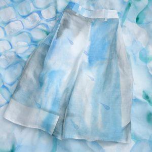 シャリッとした麻のパンツ。wide pants(pool)/rinen100% /batic
