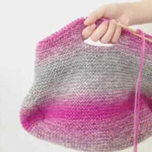エストニア毛糸からは「プレウールで編むバッグ」のキットもお待ちします。