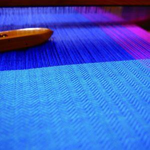 織り機の上の様子です。