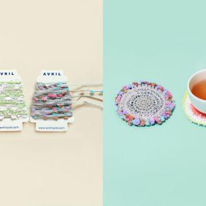 アヴリルで人気の小さな糸巻きです。ラッピングに使ったり、編んでコースターにしてみたり。いろんな糸をちょこっとずつ使いたい方におすすめです。