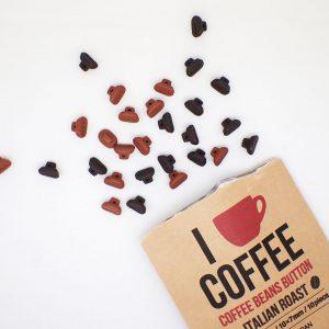 コーヒー豆の形をしたボタン