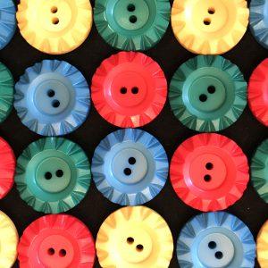 カラフルなヴィンテージボタン
