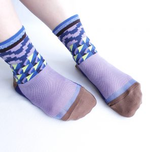 Bird geometric socks/ネイビー