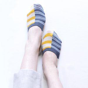 Triple border foot cover/ベージュ