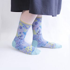 Garden terrace socks/ブルー